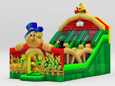 scarecrow inflatable slide