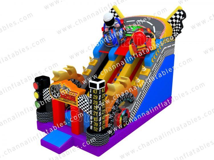 car racing inflatable slide