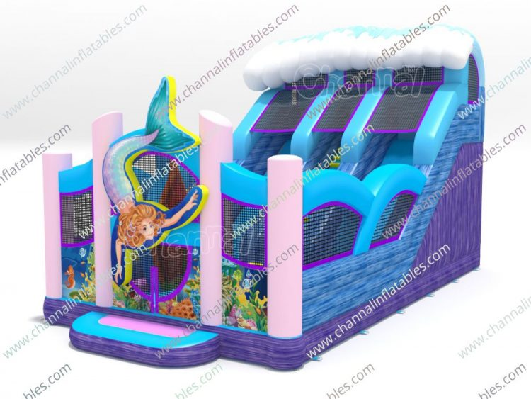 mermaid inflatable slide for sale