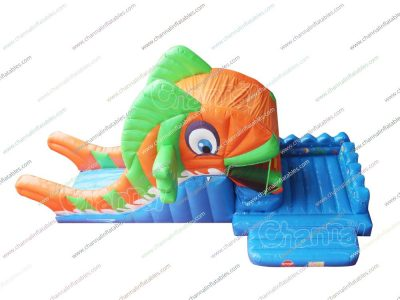 clownfish mouth inflatable slide