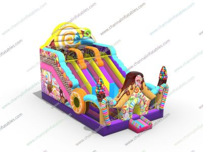 candy inflatable slide