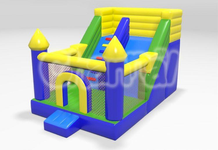 blue castle inflatable slide