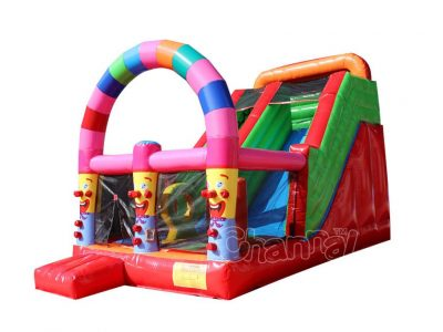clown theme inflatable slide
