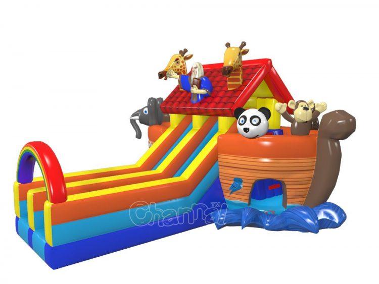 Noah's ark inflatable slide