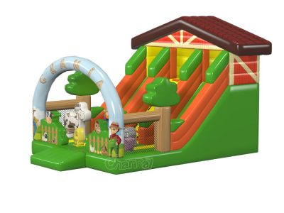 farm barn themed inflatable slide for sale