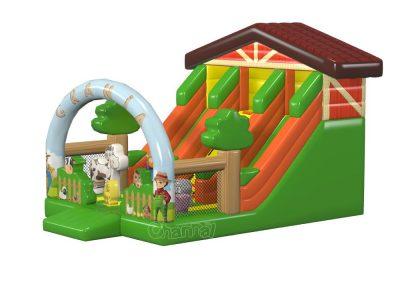 farm barn themed inflatable slide for sale