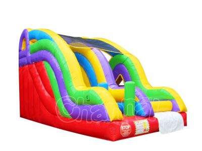 inflatable slide with obstacles for kids
