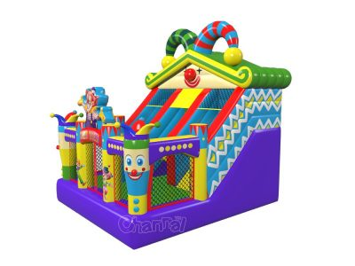 original design circus theme inflatable slide for kids