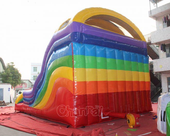 back side of rainbow slide