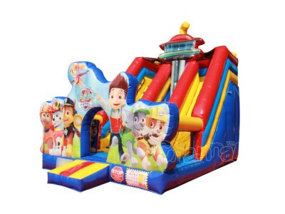 paw patrol inflatable dry slide