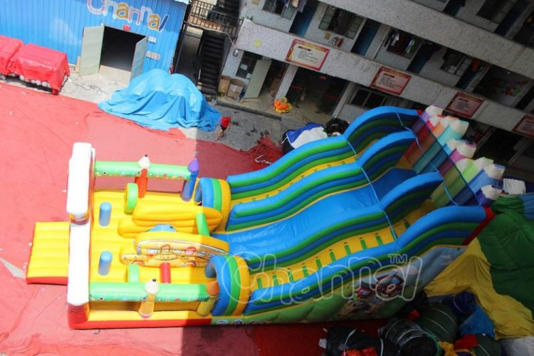 buy back to school inflatable slide with obstacles