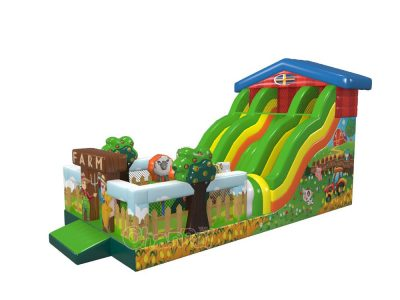 farm farmland orchard inflatable slide