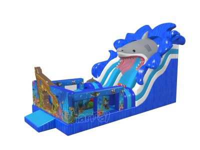 original design sunken ship inflatable slide