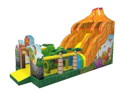 jurassic volcano inflatable slide for sale