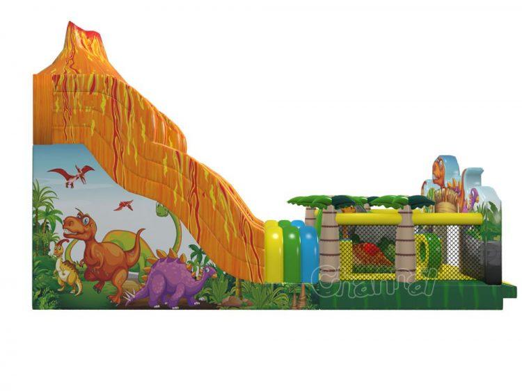 jurassic dinosaur eruptive volcano theme inflatable slide