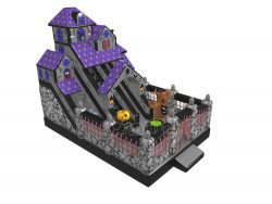 Halloween haunted house inflatable slide for kids