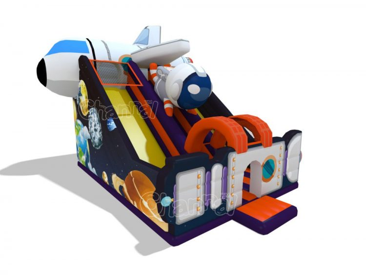 space exploration inflatable slide for kids