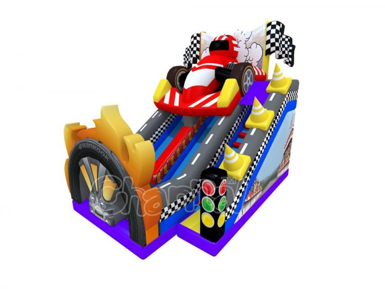 open-wheel single seater racing inflatable slide