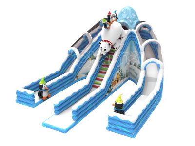 winter land inflatable slide