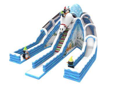 winter land inflatable slide