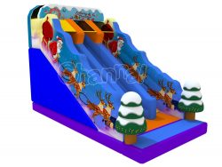 Santa reindeer inflatable slide for sale