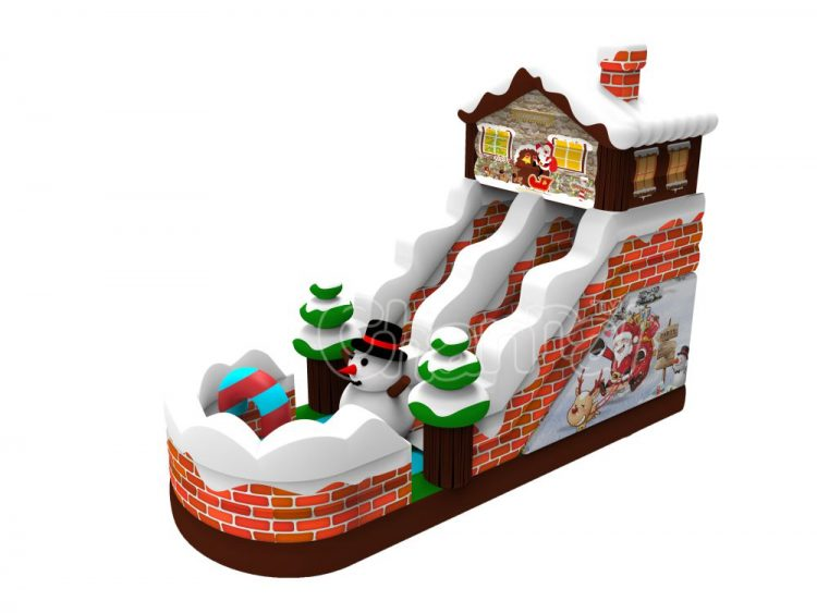 Xmas house inflatable slide for sale