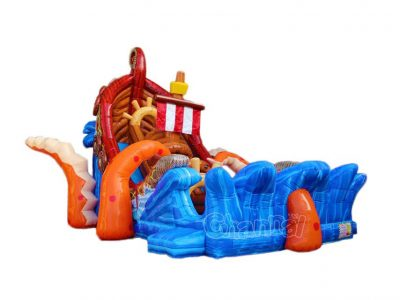 kraken attack inflatable slide