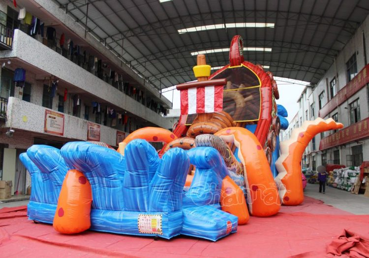 colossal octopus inflatable slide for adults and kids