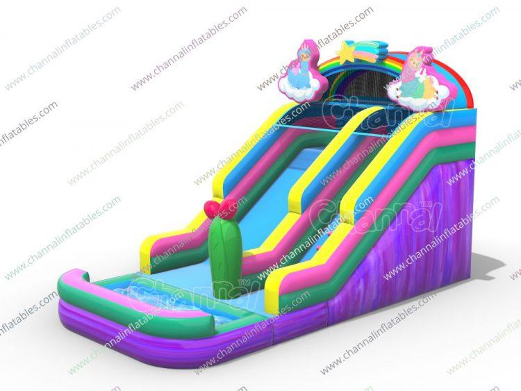 llama inflatable water slide