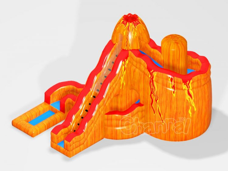 volcano inflatable water slide for sale