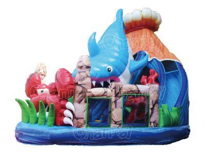 ocean volcano inflatable slide
