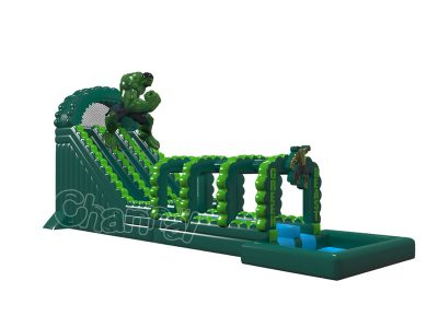 the hulk inflatable water slide