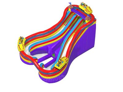 amusement park roller coaster inflatable water slide for kids