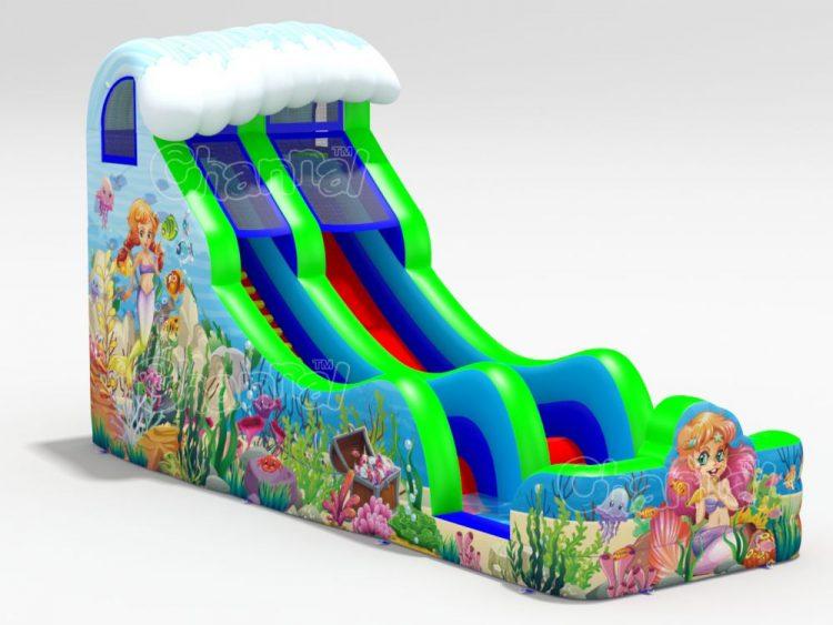 mermaid inflatable water slide