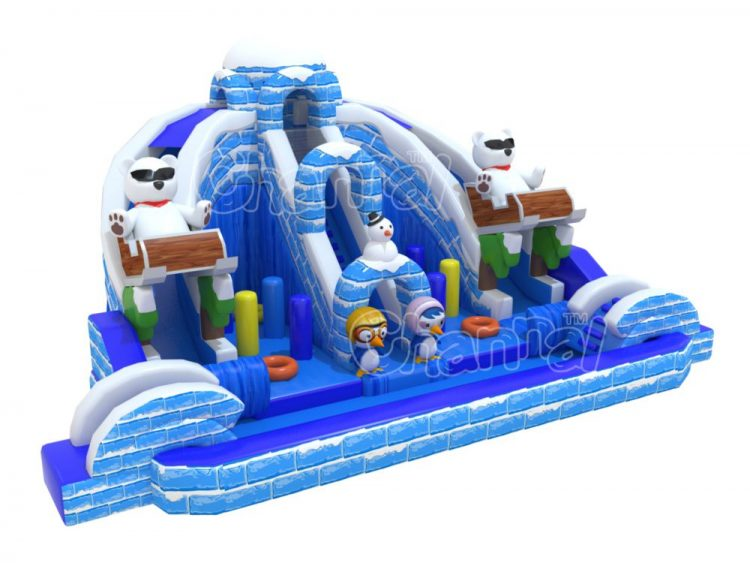 icy dome inflatable water slide