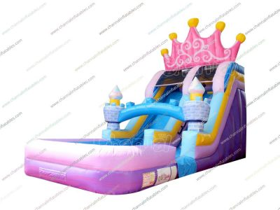 king / queen crown water slide with pool