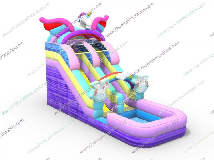 unicorn inflatable water slide