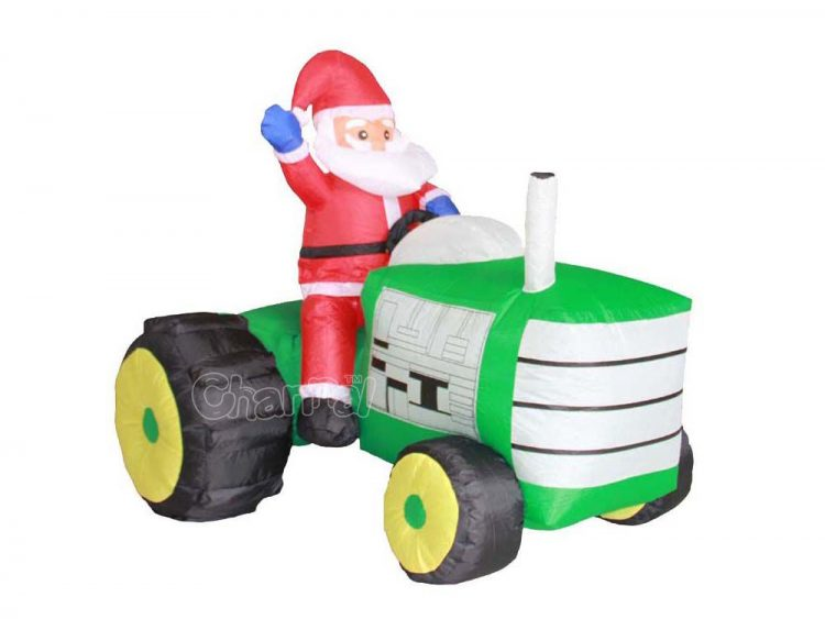 buy inflatable santa claus riding on a tractor