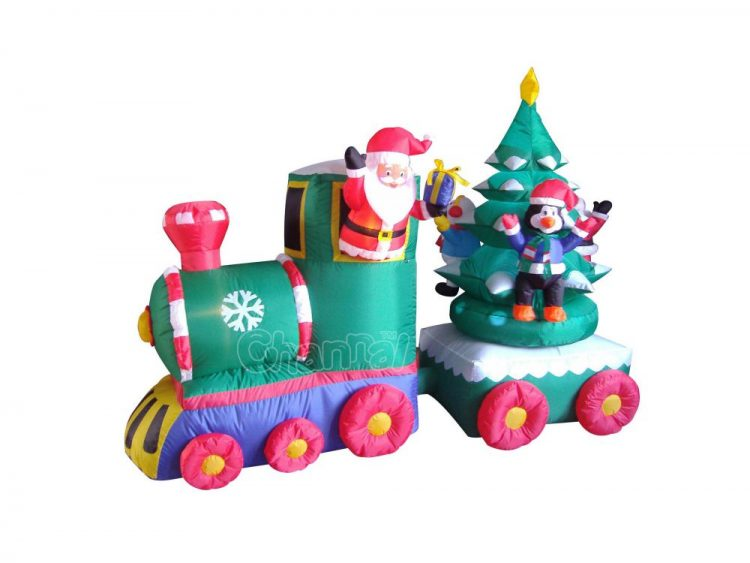 inflatable santa claus train - Blow Up Christmas Tree