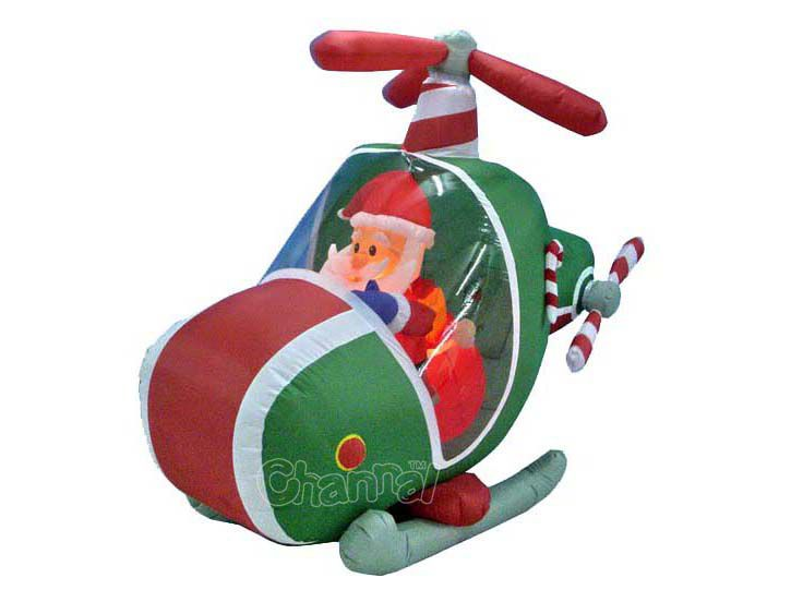 blow up christmas helicopter santa for wholesale