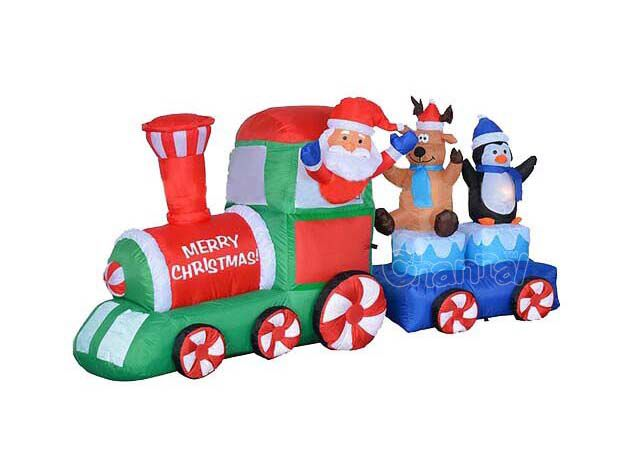 blow up christmas train decoration for sale - Christmas Train Decoration