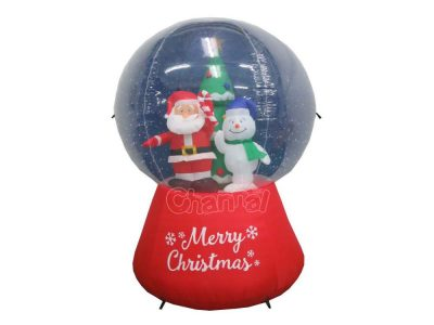 inflatable santa snow globe for wholesale