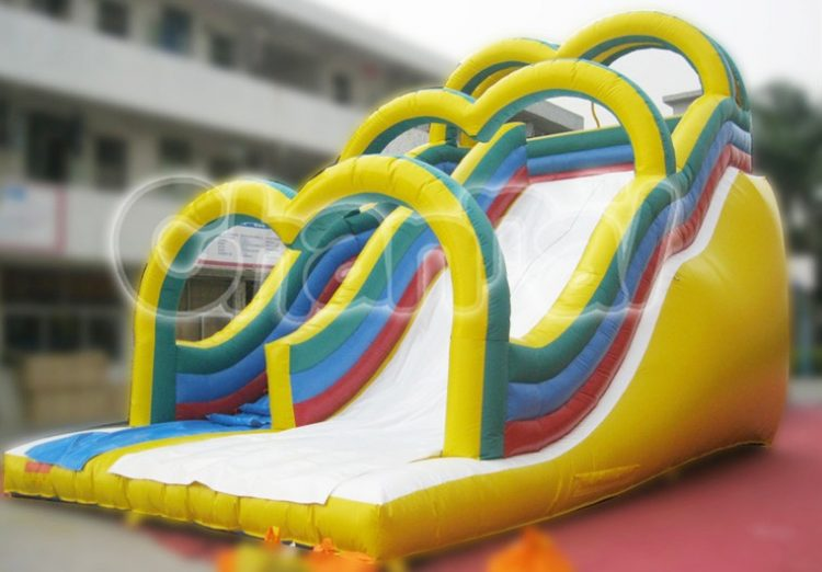 yellow arches inflatable slide