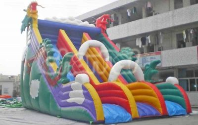 chinese dragon inflatable slide