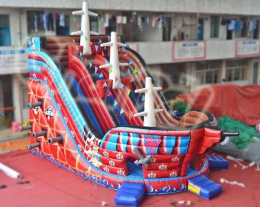 red caribbean pirate inflatable slide