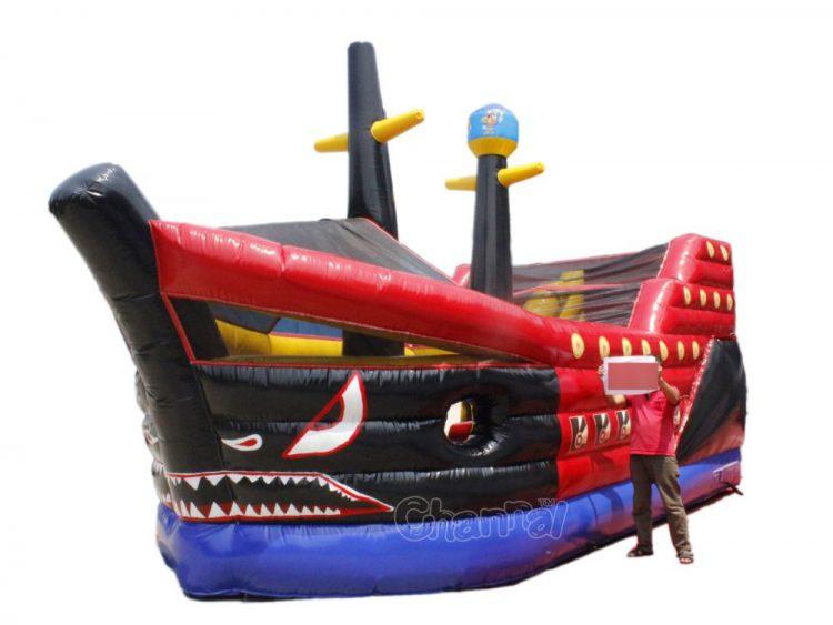 inflatable shark ship slide