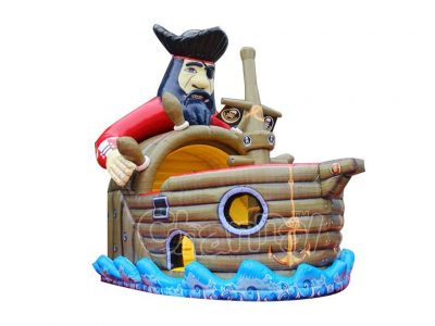 pirate ship captain inflatable slide