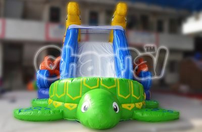 sea turtle sea horse inflatable slide