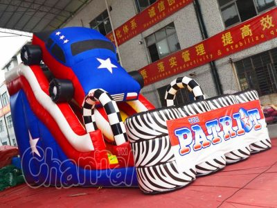 car race inflatable slide