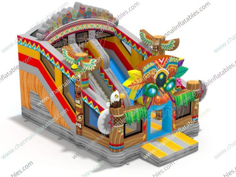 native american inflatable slide